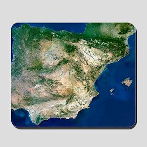 Iberian Peninsula, satellite image Mousepad