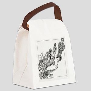 Human evolution, conceptual artwo Canvas Lunch Bag