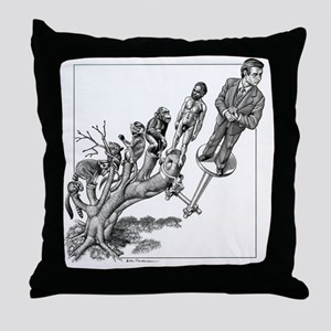 Human evolution, conceptual artwork Throw Pillow