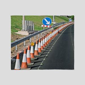 Motorway traffic cones Throw Blanket