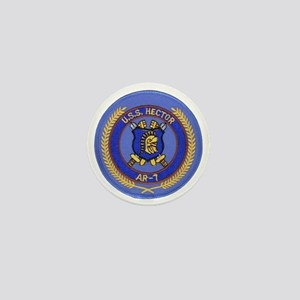 uss hector patch transparent Mini Button