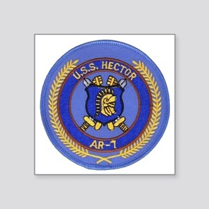 "uss hector patch transparen Square Sticker 3"" x 3"""