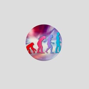 Human evolution Mini Button