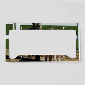 Cute Miniature Horses License Plate Holder