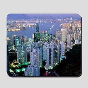 Hong Kong at dawn Mousepad