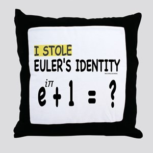I stole Eulers Identity Throw Pillow