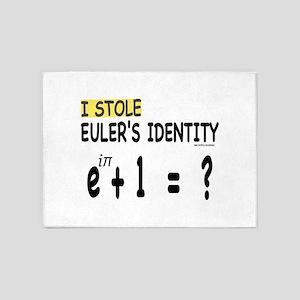 I stole Eulers Identity 5'x7'Area Rug