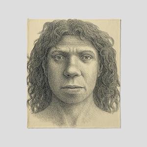 Homo heidelbergensis female Throw Blanket
