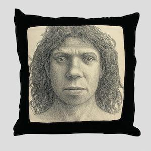 Homo heidelbergensis female Throw Pillow