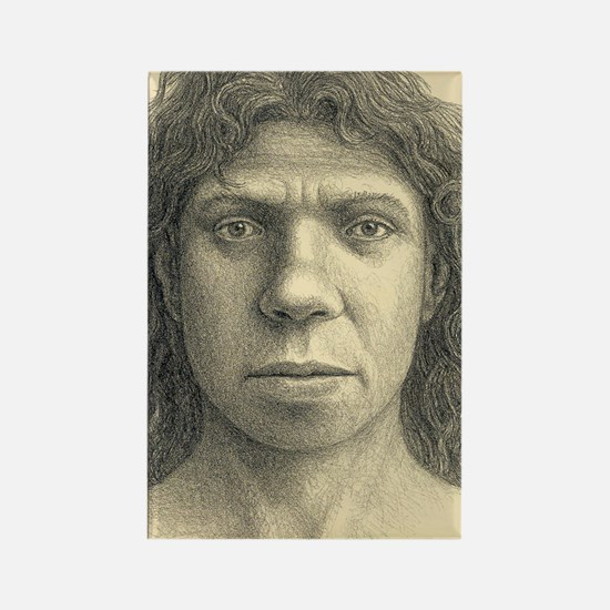 Homo heidelbergensis female Rectangle Magnet