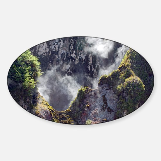 Hot springs and geysers Sticker (Oval)