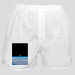 Moonrise over Earth Boxer Shorts