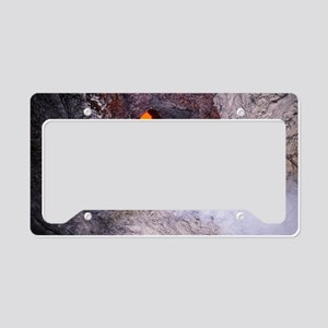 Hole in lava tunnel roof License Plate Holder