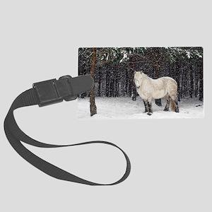 Highland pony Large Luggage Tag