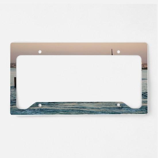 uss helena large framed print License Plate Holder