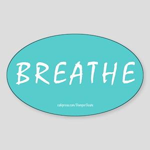 Breathe Magnet Sticker (Oval)