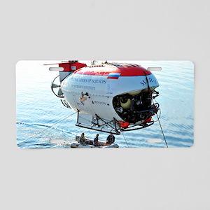 Mir-1 deep submersible in L Aluminum License Plate