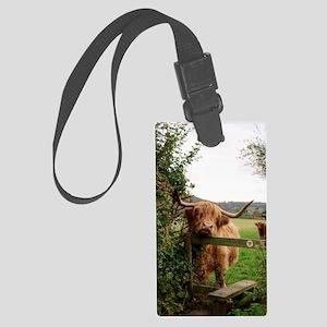 Highland cow Large Luggage Tag