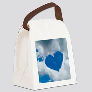 Heart-shaped cloud formation Canvas Lunch Bag
