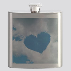 Heart-shaped cloud formation Flask
