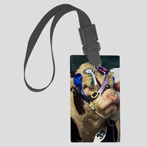 Hereford bull Large Luggage Tag