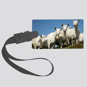 Herd of goats Large Luggage Tag