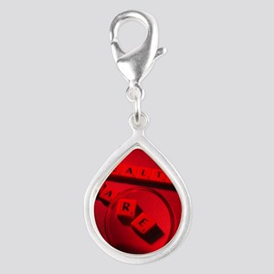 Healthcare research, concep Silver Teardrop Charm