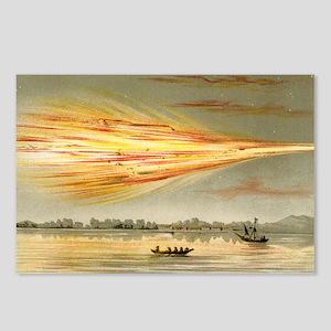 Meteorite explosion, hist Postcards (Package of 8)