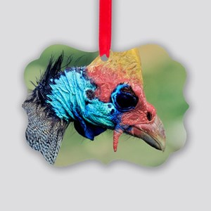 Helmeted Guineafowl head Picture Ornament
