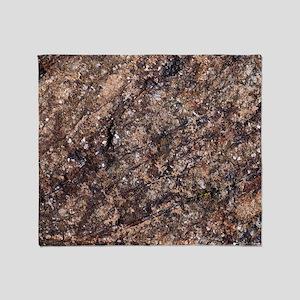 Harzburgite rock Throw Blanket