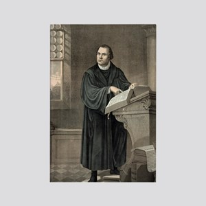 Martin Luther, German theologian Rectangle Magnet