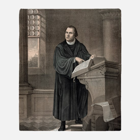 Martin Luther, German theologian Throw Blanket