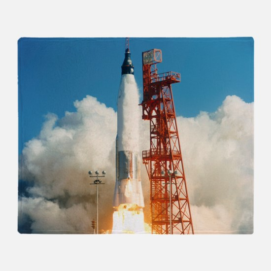 Mercury-Atlas 6 launch Throw Blanket