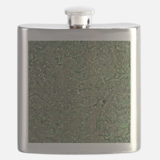 Manchester, aerial view Flask