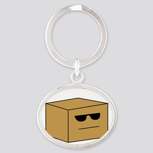 suspPack1B Oval Keychain