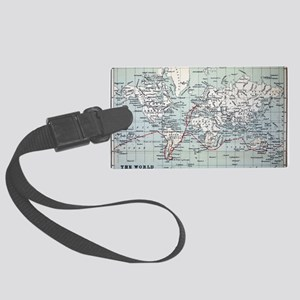 Map2 Darwin's Beagle Voyage Sout Large Luggage Tag