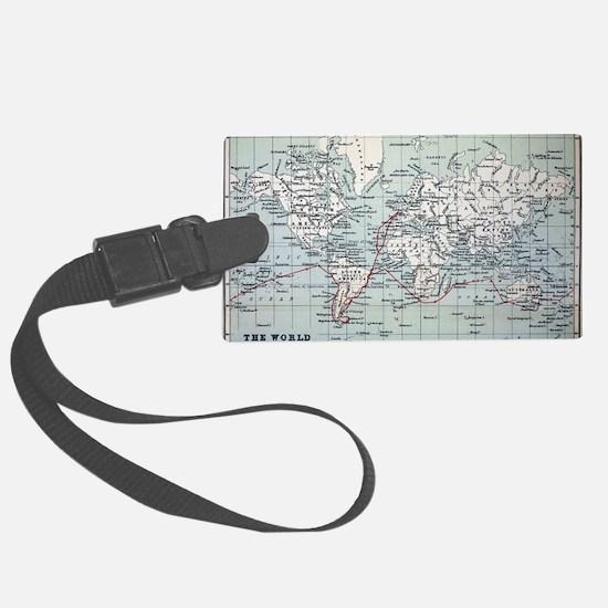Map2 Darwin's Beagle Voyage Sout Luggage Tag