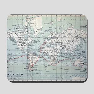Map2 Darwin's Beagle Voyage South Americ Mousepad