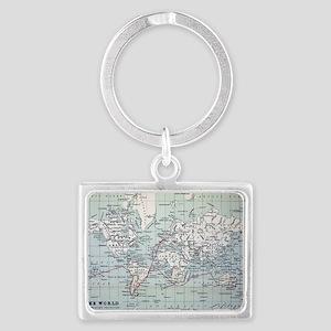 Map2 Darwin's Beagle Voyage Sou Landscape Keychain