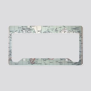 Map2 Darwin's Beagle Voyage S License Plate Holder
