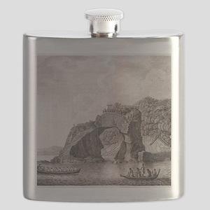 Maori fortified town, 18th century Flask