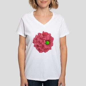 Macrophage engulfing pathog Women's V-Neck T-Shirt