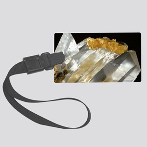 Gypsum and sulphur crystals Large Luggage Tag