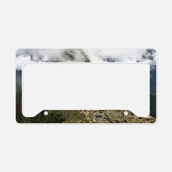 Machu Picchu, Peru License Plate Holder