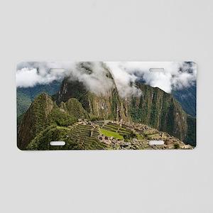 Machu Picchu, Peru Aluminum License Plate