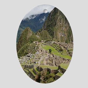 Machu Picchu, Peru Oval Ornament