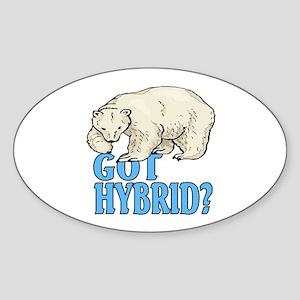 Got hybrid? Oval Sticker