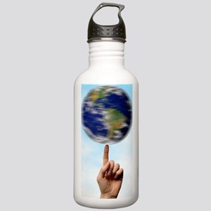Globe spinning on a fi Stainless Water Bottle 1.0L