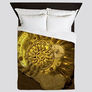Machina ammonita by Paul D. Stewart Queen Duvet
