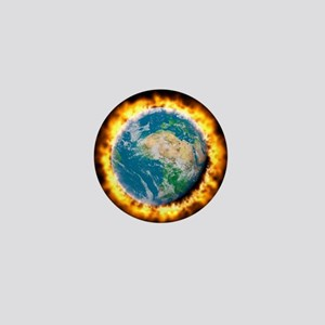 Global warming Mini Button